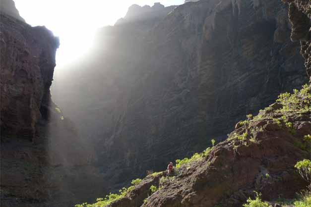 Vista de la bajada del barranco de Masca en el Valle de Teno