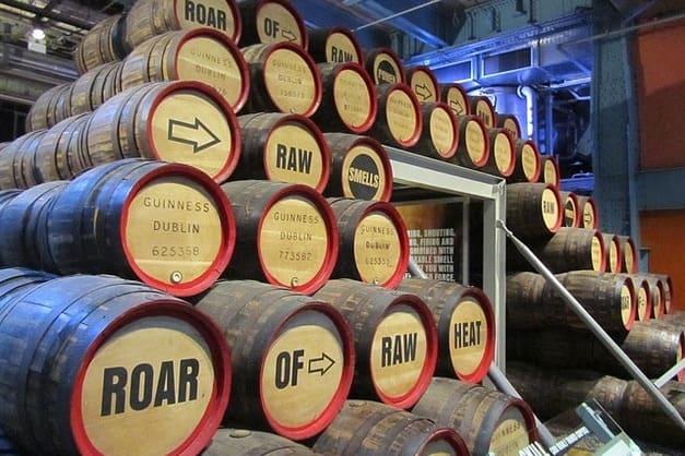 Entradad a la fábrica Guinness de Dublín