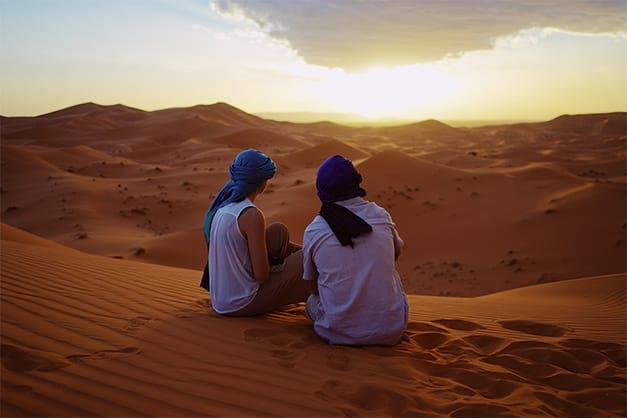 amanecer durante una excursión al desierto desde Maarrakech
