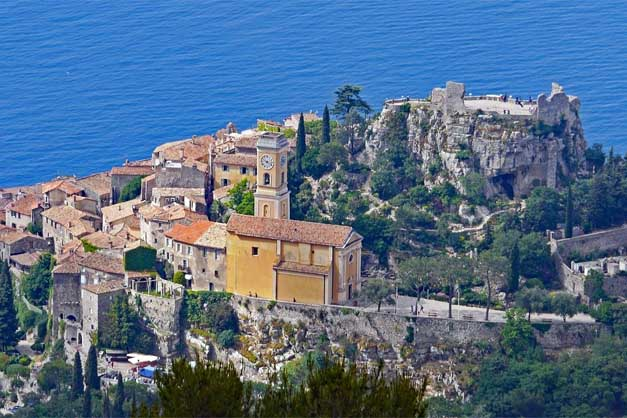 Vista aérea de Eze en el tour por Mónaco y Montecarlo.