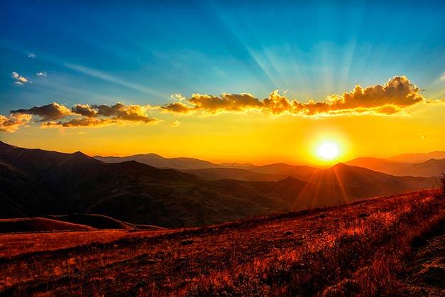 Imagen de las montañas Highlands, escenario de múltiples leyendas escocesas.