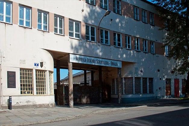 Entrada a la fábrica museo de Oskar Schindler