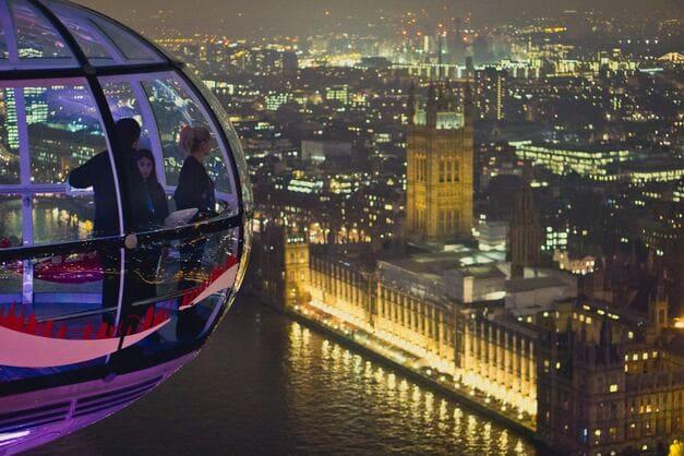 Vista panorámica desde una cápsula del London Eye.