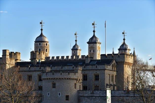 Panorama del castillo Torre de Londres.