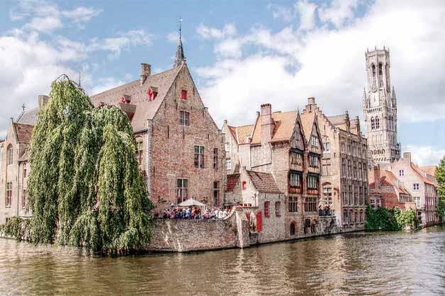 Los canales de un tour a Brujas y Gante desde Bruselas.