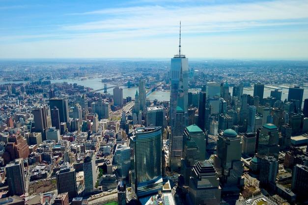 Vuelo en helicóptero por Nueva York cruzando Manhattan